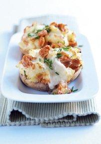 Patate Ripiene con Salmone Selvaggio d'Alaska e Mozzarella