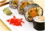 Sushi di salmone selvaggio dell'Alaska